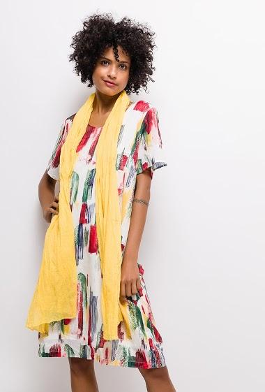 Robe imprimée coton Grande Taille ALYSSA - For Her Paris