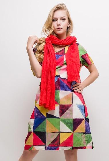 Robe imprimée coton Grande Taille ARIANA - For Her Paris