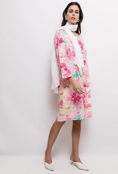 Robe imprimée Grande Taille MATHILDE - For Her Paris
