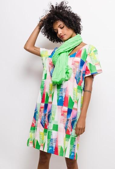 Robe imprimée Grande Taille FANNY - For Her Paris