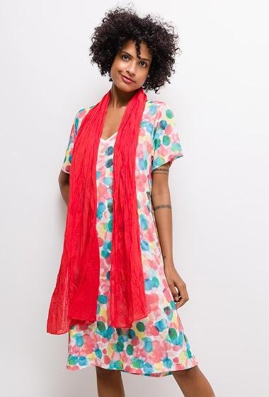 Robe imprimée Grande Taille GABRIELLE - For Her Paris