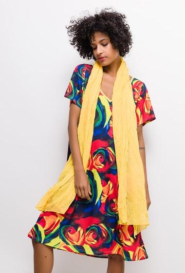 Robe imprimée Grande Taille CLAIRE - For Her Paris