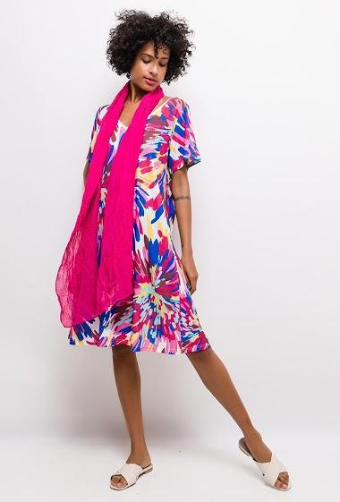Robe imprimée Grande Taille ZOE - For Her Paris