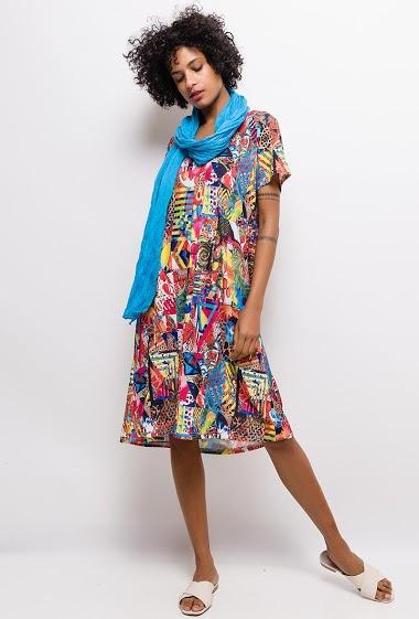 Robe imprimée Grande Taille MANON - For Her Paris