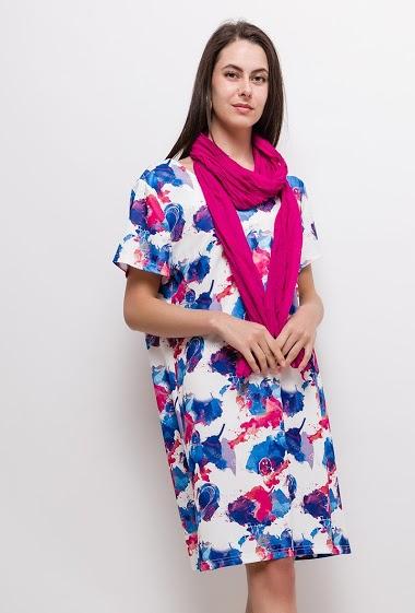 Robe imprimée Grande Taille ELOÏSE - For Her Paris