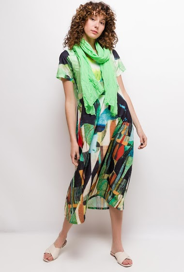 Long printed dress NORAH - For Her Paris