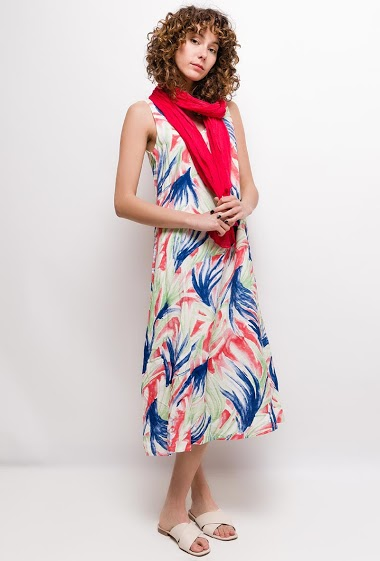 Long printed dress COLEEN - For Her Paris
