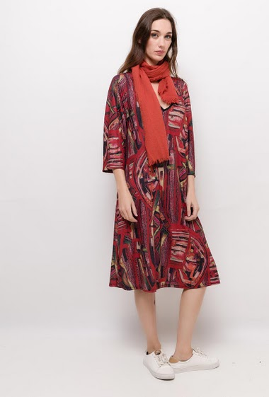 Robe imprimée FRANNY - For Her Paris