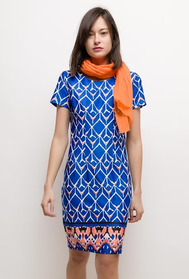 Printed dress PHOEBE - For Her Paris