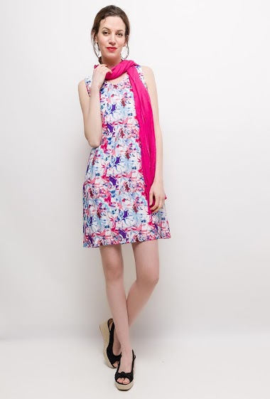 Printed dress NOEMIE - For Her Paris