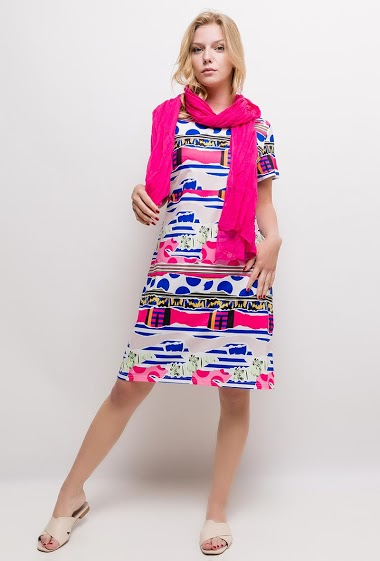 Printed dress ALEXANE - For Her Paris