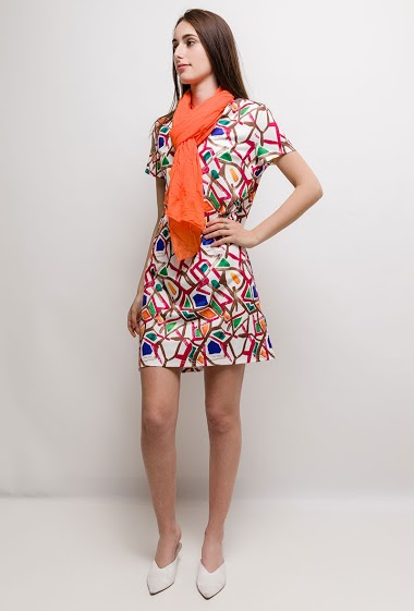 Printed dress CAMELIA - For Her Paris