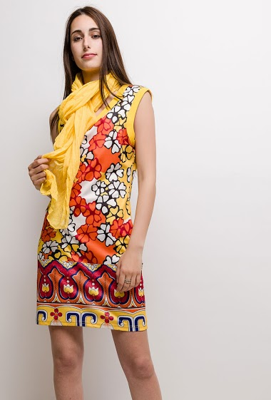 Printed dress SUZANNE - For Her Paris