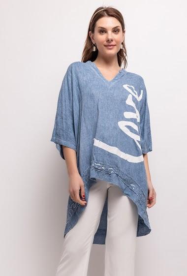 LINEN / COTTON dress - For Her Paris