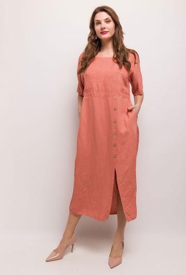 Long dress 100% LIN - For Her Paris