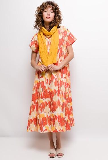 Robe longue imprimée grande taille SONIA - For Her Paris