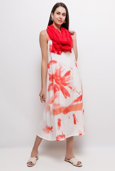 Robe longue imprimée CASSANDRA - For Her Paris