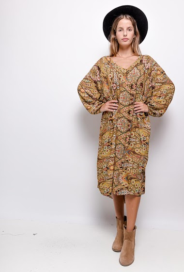 Robe oversize col V - For Her Paris