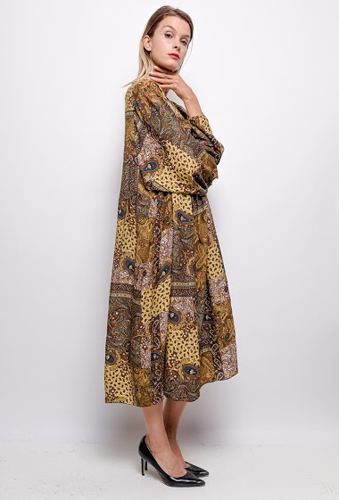 Robe oversize col V - For Her Paris