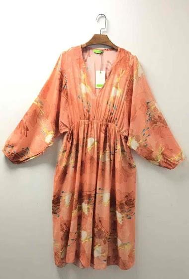 oversize V-neck dress - For Her Paris