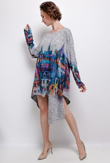 robe oversize imprimé - For Her Paris