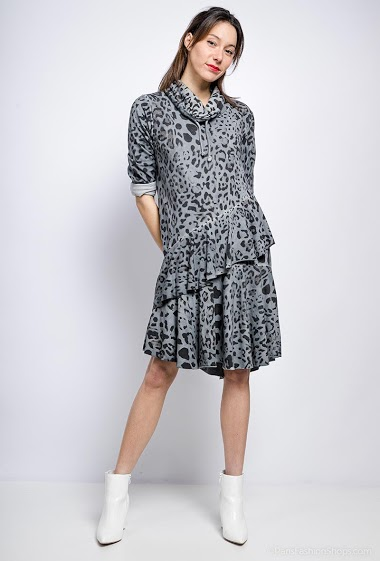 robe oversize léopard en coton - For Her Paris