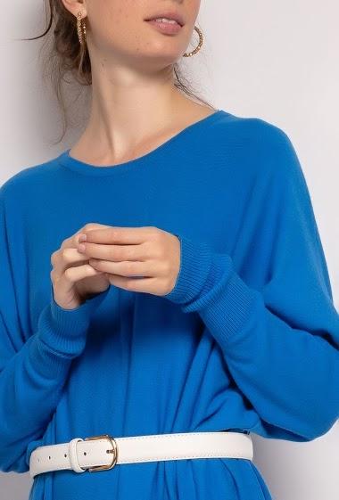 oversized long plain dress - For Her Paris