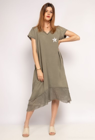 robe oversize uni avec étoile - For Her Paris