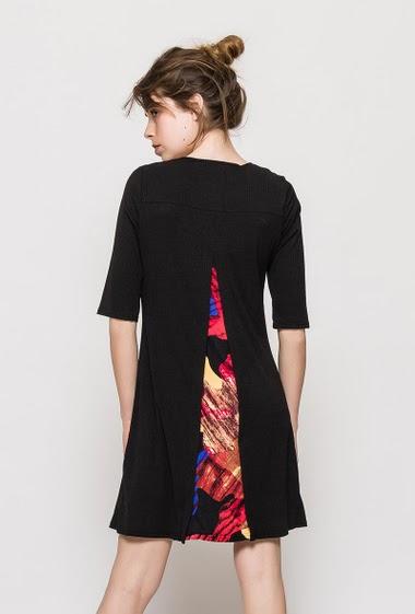 Robe stretch côtelée ELLEN - For Her Paris