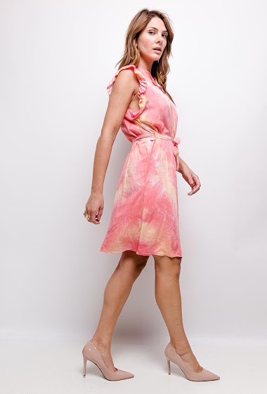 Tie and dye cotton dress - For Her Paris