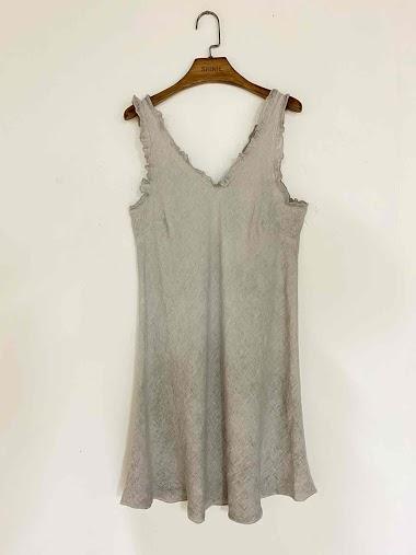 robe unie en coton et lin - For Her Paris
