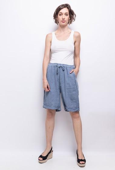 short in 100% linen - For Her Paris