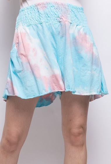 tie and dye short in cotton - For Her Paris
