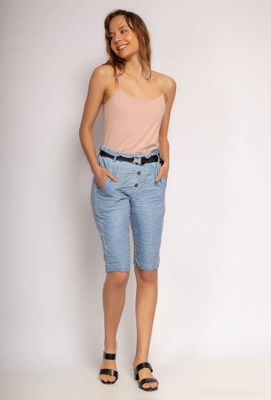 Plain shorts with belt. - For Her Paris
