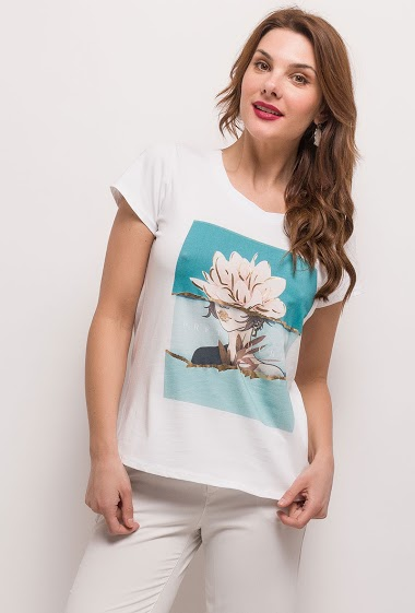 Printed T-shirt - For Her Paris
