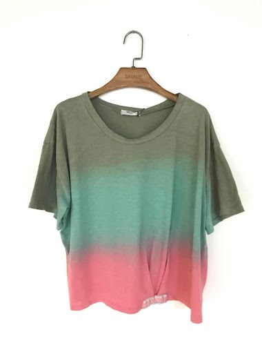 Tie and dye t-shirt in 100% cotton - For Her Paris