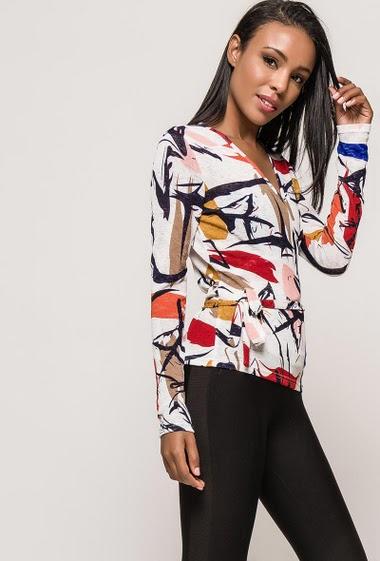 Wrap top CLOTILDE - For Her Paris