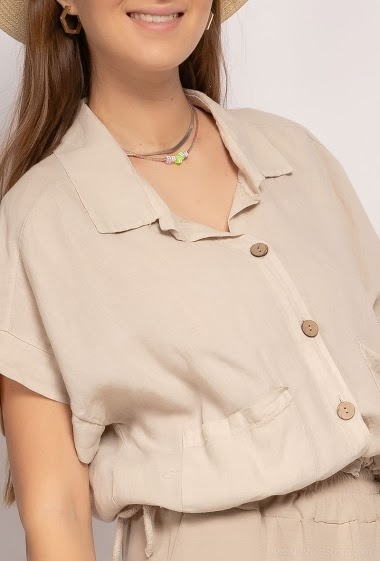 top chemise oversize unie - For Her Paris