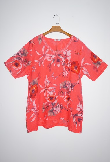 Big size printed top - For Her Paris