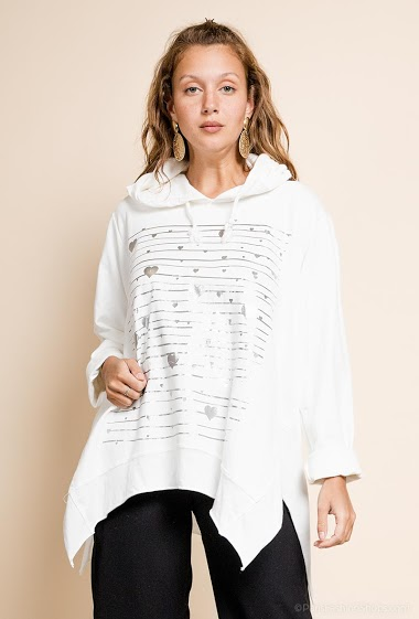 oversized hooded top - For Her Paris