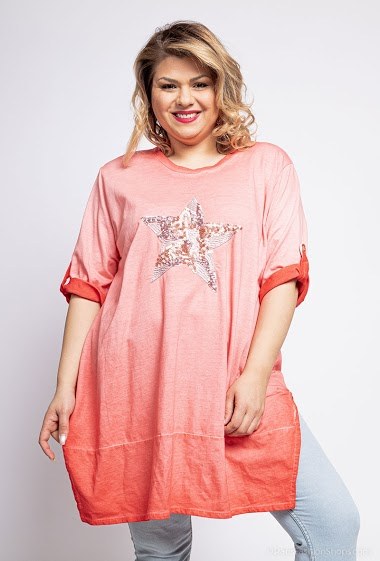 oversized top with an embroidered star - For Her Paris
