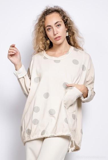 polka dot oversized top - For Her Paris