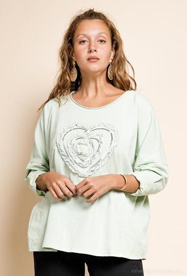 top oversize avec un coeur - For Her Paris