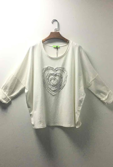 oversize top with heart - For Her Paris