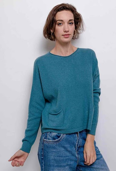 oversized knit top round neck - For Her Paris