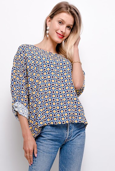 printed oversized top - For Her Paris