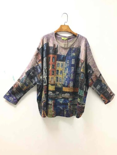 top oversize imprimé - For Her Paris