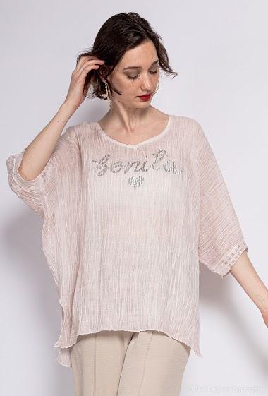 Top oversize uni en coton - For Her Paris