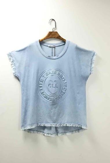 Plain oversized cotton top - For Her Paris