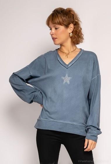Plain oversize star top - For Her Paris
